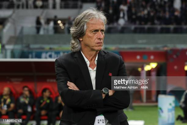 Jorge Jesus the head coach / manager of CR Flamengo looks on during the FIFA Club World Cup Qatar 2019 Final match between Liverpool FC and CR...