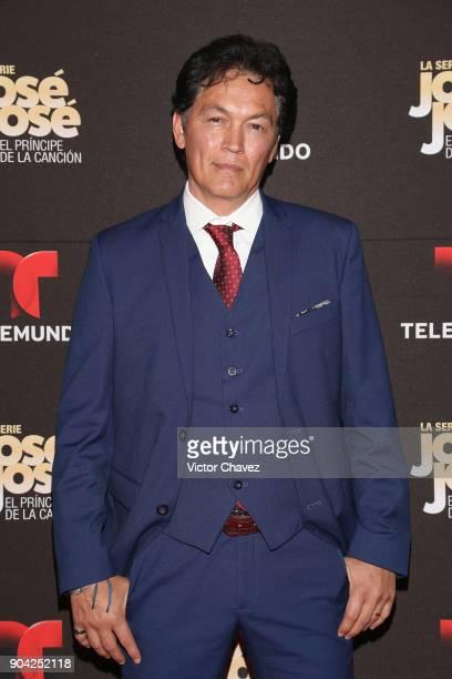 Jorge Jimenez attends the 'Jose Jose El Principe De La Cancion' Telemundo tv series premiere at Four Seasons hotel on January 11 2018 in Mexico City...