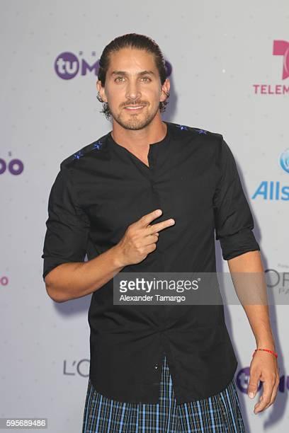 Jorge Jonathan Islas arrives at Telemundo's Premios Tu Mundo Your World Awards at American Airlines Arena on August 25 2016 in Miami Florida