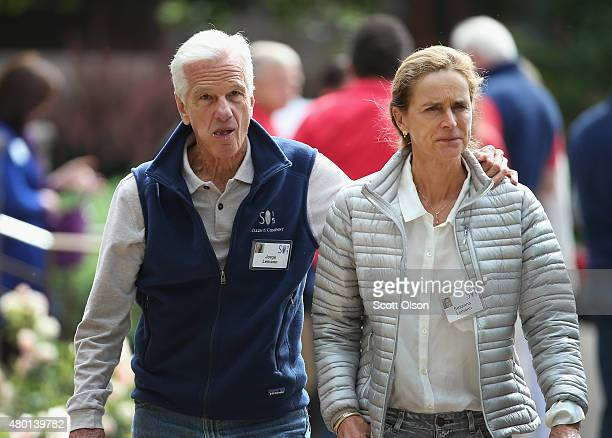 Jorge Lemann SwissBrazilian banker and wife Susanna attend the Allen Company Sun Valley Conference on July 9 2015 in Sun Valley Idaho Many of the...