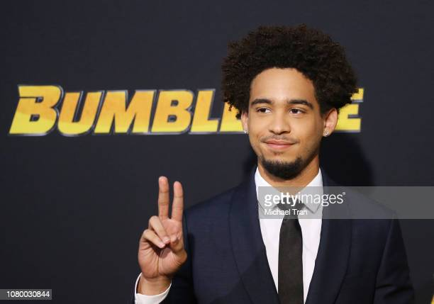 """Jorge Lendeborg Jr. Arrives to the Los Angeles premiere of Paramount Pictures' """"Bumblebee"""" held at TCL Chinese Theatre on December 09, 2018 in..."""