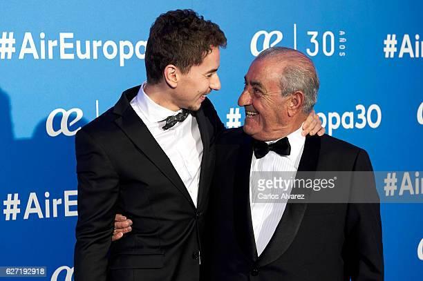 Jorge Lorenzo and Juan Jose Hidalgo attend 'Air Europa' 30th anniversary at the Palafox cinema on December 2 2016 in Madrid Spain