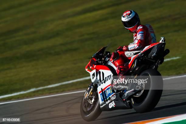Jorge Lorenzo Ducati Team during the tests of the new season MotoGP 2018 Circuit of Ricardo TormoValencia Spain Wednesday 15th of november 2017
