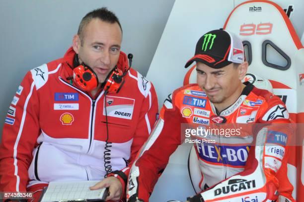 Jorge Lorenzo during Motogp test day at Valencia circuit.