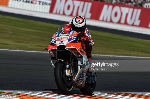 Jorge Lorenzo during qualifying session at Valencia Motogp