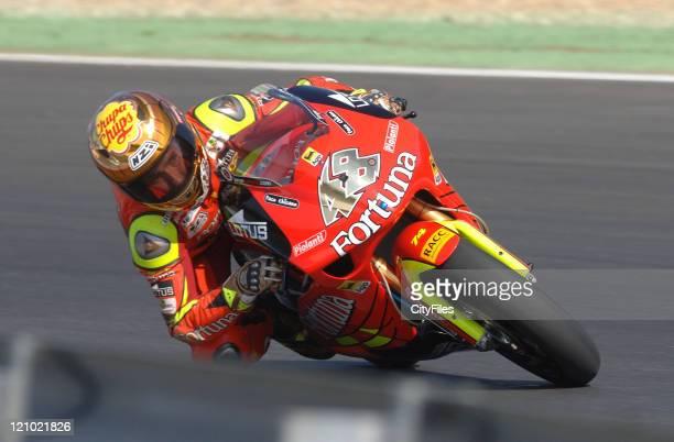 Jorge Lorenzo during training for the 2006 Estoril Moto GP in Estoril Portugal on October 14 2006
