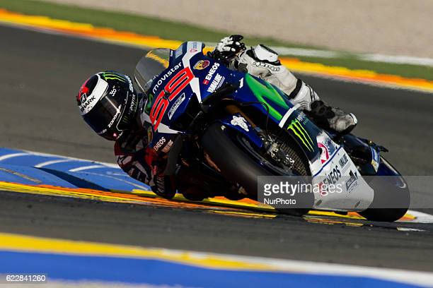 Jorge Lorenzo from Spain of Movistar Yamaha Moto GP during the qualifying of Moto GP Gran Premio Motul de la Comunitat Valenciana at Circuito Ricardo...