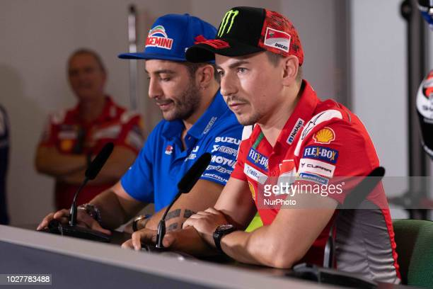 Jorge Lorenzo of Ducati Team during the presentation press conference of the OCTO Grand Prix of San Marino e della Riviera di Rimini at Misano World...