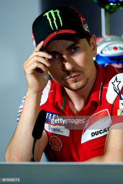 Jorge Lorenzo of Spain and Ducati Team during the press conference before of the Gran Premi Monster Energy de Catalunya Circuit of Catalunya Montmelo...