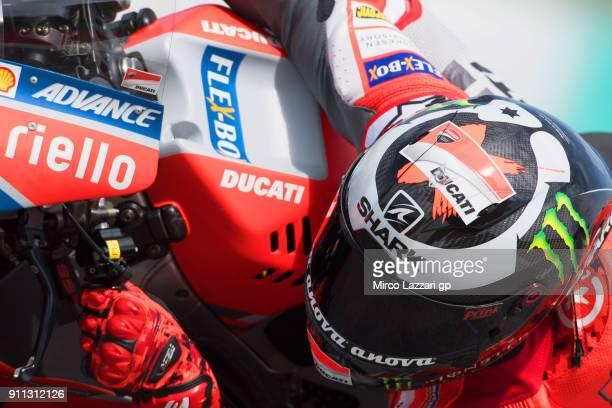 Jorge Lorenzo of Spain and Ducati Team rides during the MotoGP testing at Sepang Circuit on January 28 2018 in Kuala Lumpur Malaysia