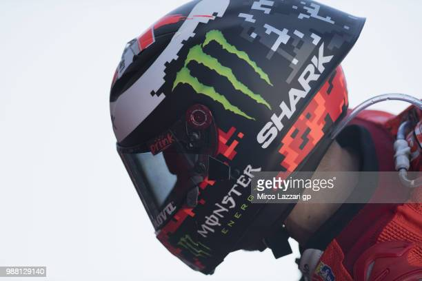 Jorge Lorenzo of Spain and Ducati Team starts from box during the Qualifying practice during the MotoGP Netherlands Qualifying on June 30 2018 in...