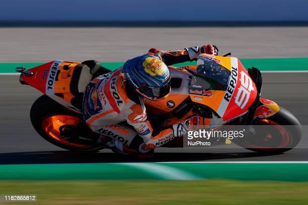 Jorge Lorenzo of Spain and Repsol Honda Team during the qualifying of Gran Premio Motul de la Comunitat Valenciana at Ricardo Tormo Circuit on...