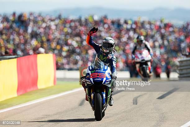 Jorge Lorenzo of Yamaha team during the Movistar Grand Prix of Aragon of Motogp
