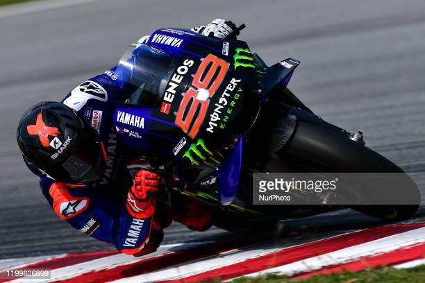 Jorge Lorenzo of Yamaha Test Rider during day three MotoGP Official Test Sepang 2020 at Sepang International Circuit on February 9 , 2020 in Sepang,...