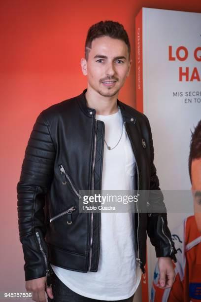 Jorge Lorenzo presents his book 'Lo que Aprendi Hasta los 30' at Intercontinental Hotel on April 12 2018 in Madrid Spain