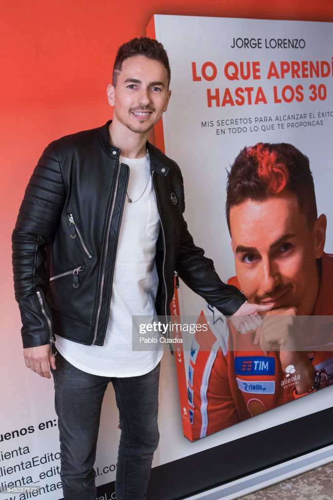 Jorge Lorenzo Presents His Book  'Lo que Aprendi Hasta los 30'