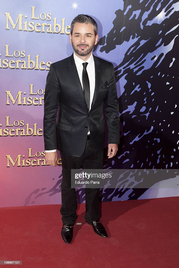 Jorge Lucas attends Los Miserables premiere photocall at Lope de Vega theatre on November 18, 2010 in Madrid, Spain.