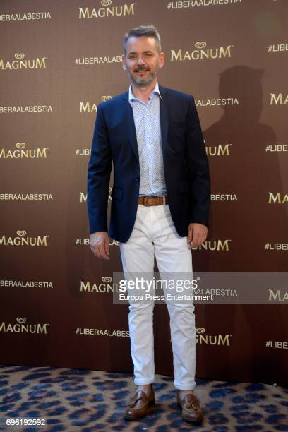 Jorge Lucas attends the Magnum new campaign presentation party at the Palacete de Fortuny on June 14 2017 in Madrid Spain
