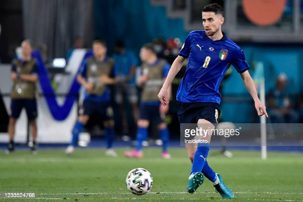 Jorge Luiz Frello Filho Jorginho of Italy in action during the Uefa Euro 2020 Group A football match between Italy and Switzerland. Italy won 3-0...