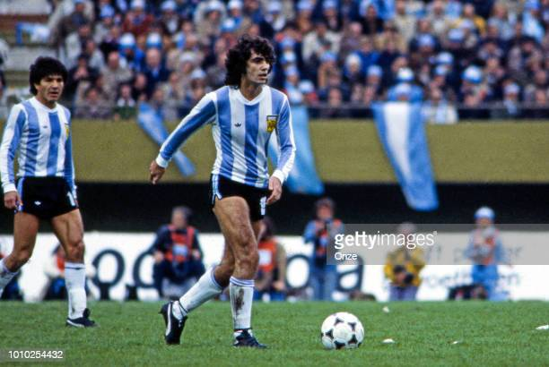 Jorge Mario Olguin of Argentina during the FIFA World Cup Final match between Argentina and Netherlands at Estadio Monumental Buenos Aires Argentina...