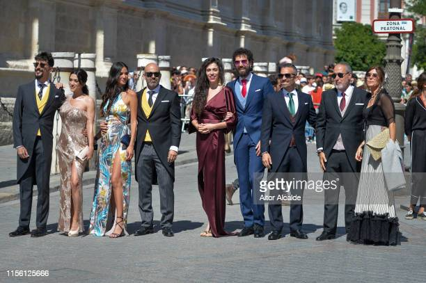 Jorge Marron Martin Arancha Morales Nerea Barros and Juan Ibanez Perez attend the wedding of real Madrid football player Sergio Ramos and Tv...