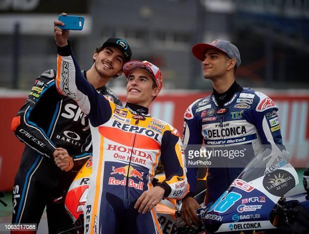 Jorge Martin of Spain and Del Conca Gresini Moto3 during the race of the Gran Premio Motul de la Comunitat Valenciana of world championship of MotoGP...
