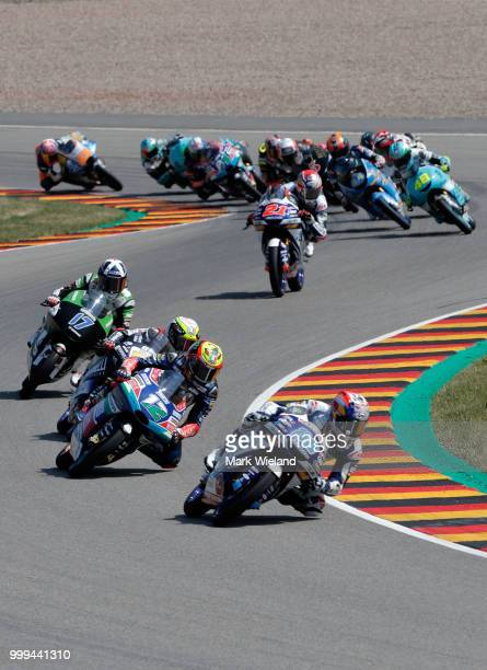 Jorge Martin of Spain and Del Conca Gresini Team in action during the MotoGP of Germany at Sachsenring Circuit on July 15 2018 in HohensteinErnstthal...