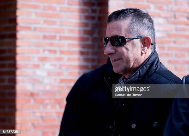 Jorge Martinez Aspar arrives to the Funeral Tribute For Angel Nieto in Madrid on September 16 2017 in Madrid Spain