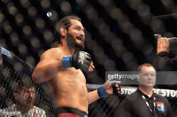 Jorge Masvidal knocks out Darren Till at UFC Fight Night 147 at the London O2 Arena Greenwich on Saturday 16th March 2019