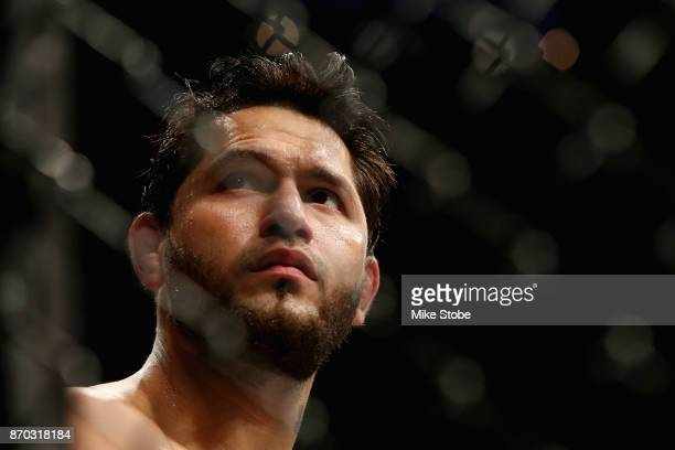 Jorge Masvidal looks on during his welterweight bout against Stephen Thompson during the UFC 217 event at Madison Square Garden on November 4 2017 in...