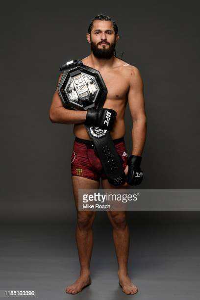 Jorge Masvidal poses for a portrait backstage during the UFC 244 event at Madison Square Garden on November 02 2019 in New York City