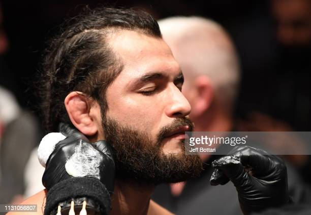 Jorge Masvidal prepares to fight Darren Till of England in their welterweight bout during the UFC Fight Night event at The O2 Arena on March 16 2019...