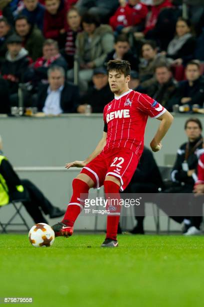 Jorge Mere of Cologne controls the ball during the UEFA Europa League Group H soccer match between 1FC Cologne and Arsenal FC at the RheinEnergie...