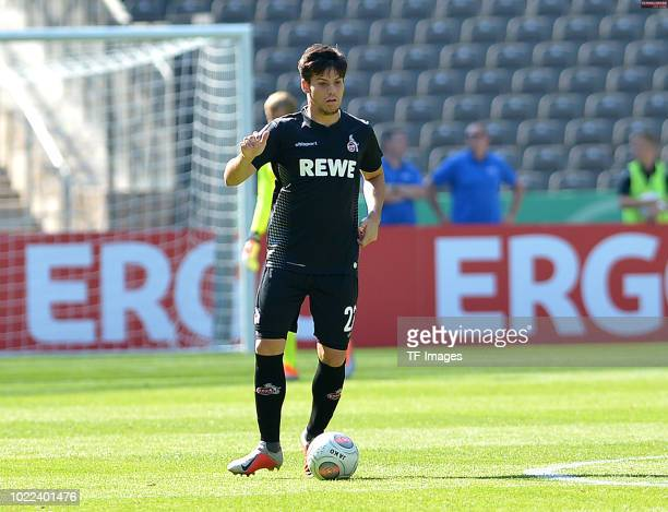Jorge Mere of FC Koeln controls the ball during the DFB Cup first round match between BFC Dynamo and 1 FC Koeln at Olympiastadion on August 19 2018...
