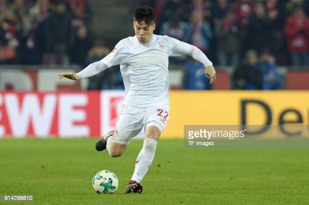 Jorge Mere of Koeln controls the ball during the Bundesliga match between 1 FC Koeln and Borussia Dortmund at RheinEnergieStadion on February 2 2018...