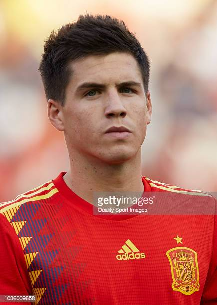 Jorge Mere of Spain looks on prior to the 2019 UEFA Under 21 qualifier match between Spain U21 and Albania U21 at Nuevo Arcangel Stadium on September...