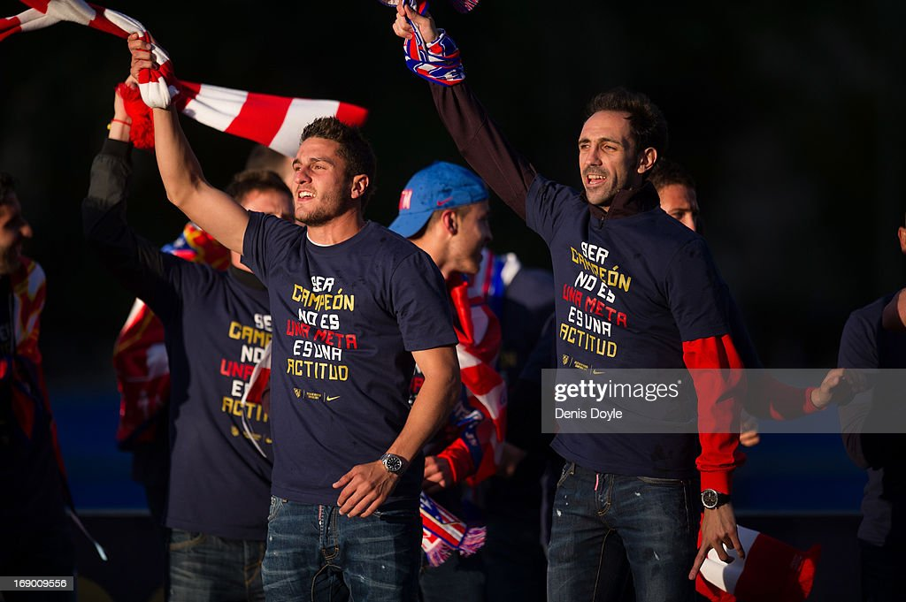 Atletico de Madrid Celebrate Winning Copa del Rey : News Photo