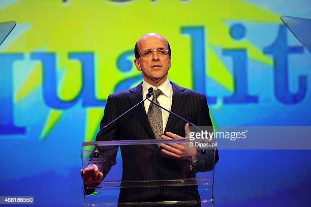 Jorge Mesquita speaks onstage at the 7th Annual PFLAG National Straight For Equality Awards Gala at The New York Marriott Marquis on March 30 2015 in...