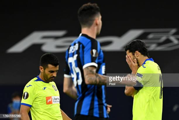Jorge Molina of Getafe reacts after missing a penalty during the UEFA Europa League round of 16 single-leg match between FC Internazionale and Getafe...