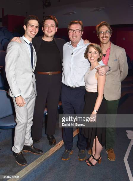 Jorge Morales Pic— James Clements Andrew Morton Cristina Schuler and Sam Hood Adrain attend the press night after party for 'The Diana Tapes' at the...