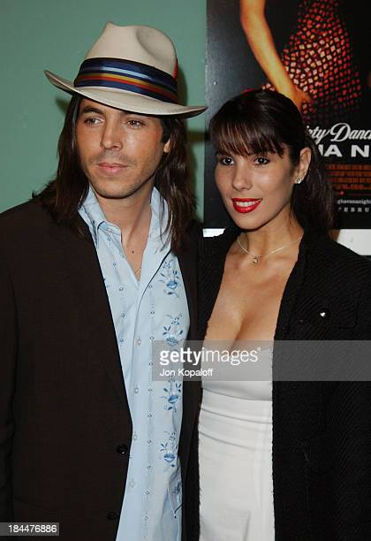 Jorge Moreno and fiancee during Dirty Dancing Havana Nights World Premiere at The Arclight Cinerama Dome in Hollywood California United States