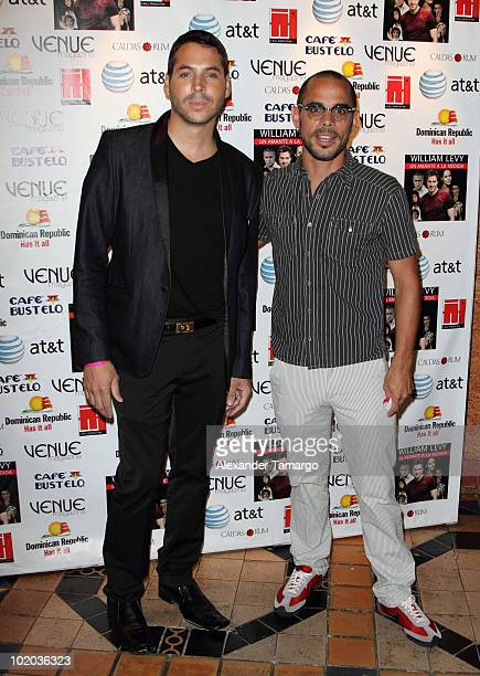 Jorge Moreno and Javier Garcia attend the premiere of Un Amante a la Medida at the Gusman Center for the Performing Arts on June 12 2010 in Miami...