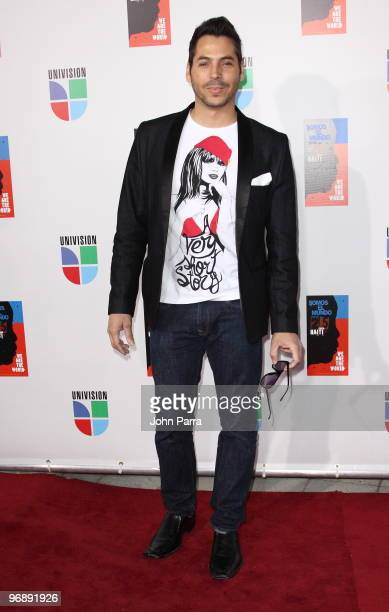 Jorge Moreno arrives at recording of Somos El Mundo We Are The World by Latin recording artits at American Airlines Arena on February 19 2010 in...