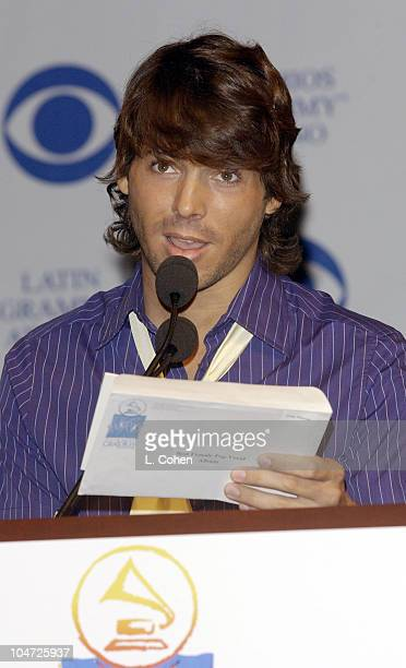 Jorge Moreno during 3rd Annual Latin Grammy Awards Nominations at The Beverly Hilton in Beverly Hills California United States