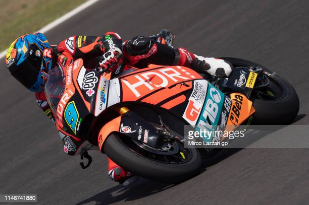 Jorge Navarro of Spain and Ego Speed Up rounds the bend during the MotoGp of Spain Free Practice at Circuito de Jerez on May 03 2019 in Jerez de la...