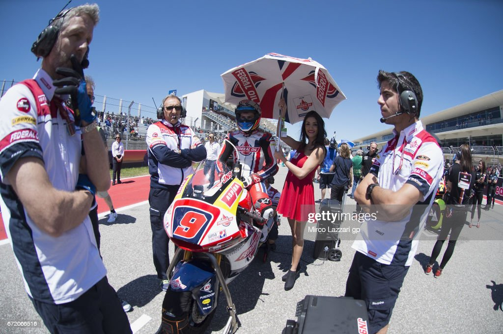 Jorge Navarro of Spain and Federal Oil Gresini Moto2 prepares to start on the grid during the Moto2 race during the MotoGp Red Bull U.S. Grand Prix of The Americas - Race at Circuit of The Americas on April 23, 2017 in Austin, Texas.