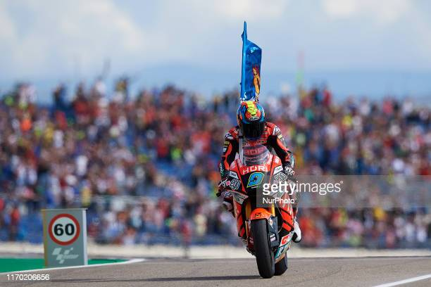 Jorge Navarro of Spain and HDR Heidrun Speed Up during of the Gran Premio Michellin de Aragon of world championship of MotoGP at Motorland Aragon...