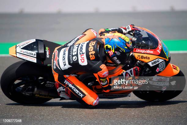 Jorge Navarro of Spain and Speed Up Racing rounds the bend during the Moto2 And Moto3 Tests In Doha Day 1 at Losail Circuit on February 28 2020 in...