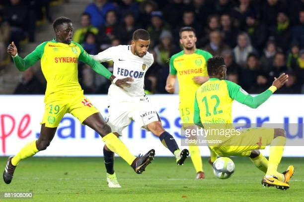 Jorge of Monaco and Abdoulaye Toure of Nantes during the Ligue 1 match between FC Nantes and AS Monaco at Stade de la Beaujoire on November 29 2017...