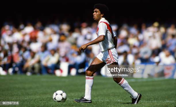 Jorge Olaechea of Peru during the World Cup match between Italy and Peru at Balaidos Stadium Vigo Spain on 18h June 1982